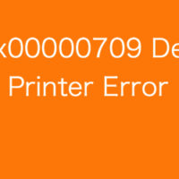 Fix 0x00000709 Default Printer Error