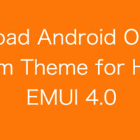 Download Android Oreo 8.0 System Theme for Huawei EMUI 4.0