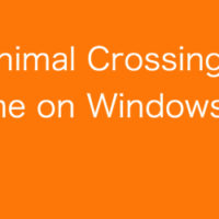 Animal Crossing game on Windows 10
