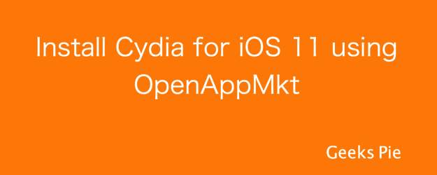 Cydia iOS 11 with OpenAppMkt