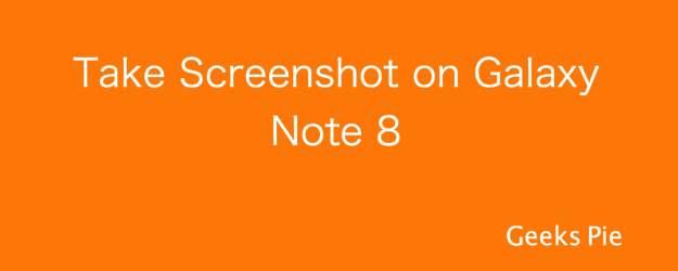 Screenshot on Galaxy Note 8