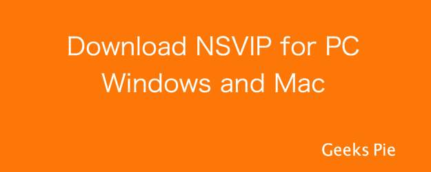 Download NSVIP for PC Windows and Mac