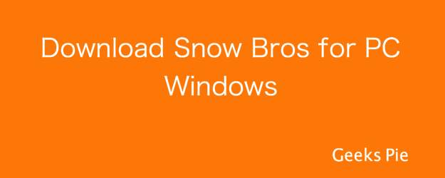 Download Snow Bros for PC Windows