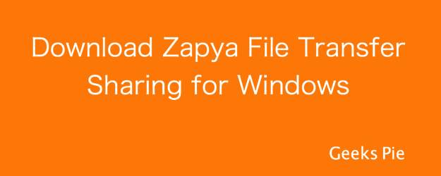 Download Zapya File Transfer Sharing for Windows