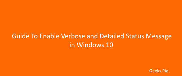 Guide how to enable Verbose status message